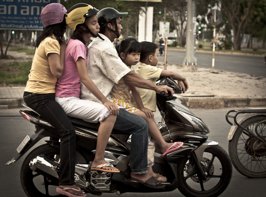 Family on a Scooter