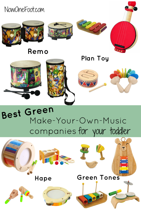 Best eco-friendly music companies for toddlers