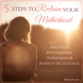 Reclaim Motherhood from Postpartum Depression and Anxiety