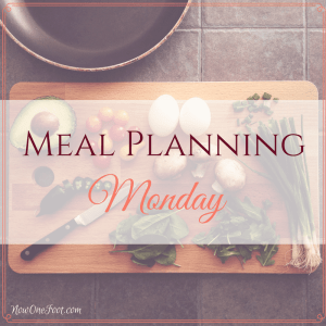 Lenten Goals – Meal Planning