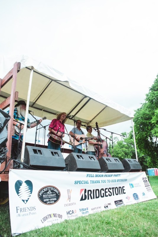 Live Bands perform at each Full Moon Pickin' Party.