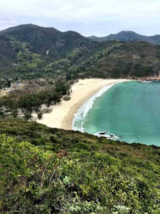 Sai Wan Beach view from a hike