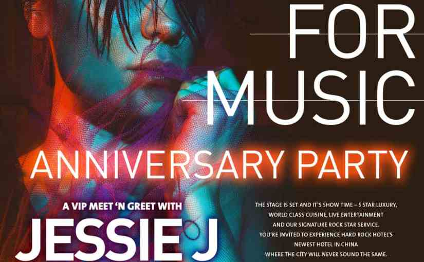 Singer 2018 Champion Jessie J Helps Celebrate Hard Rock Hotel Shenzhen's 1st Anniversary Event