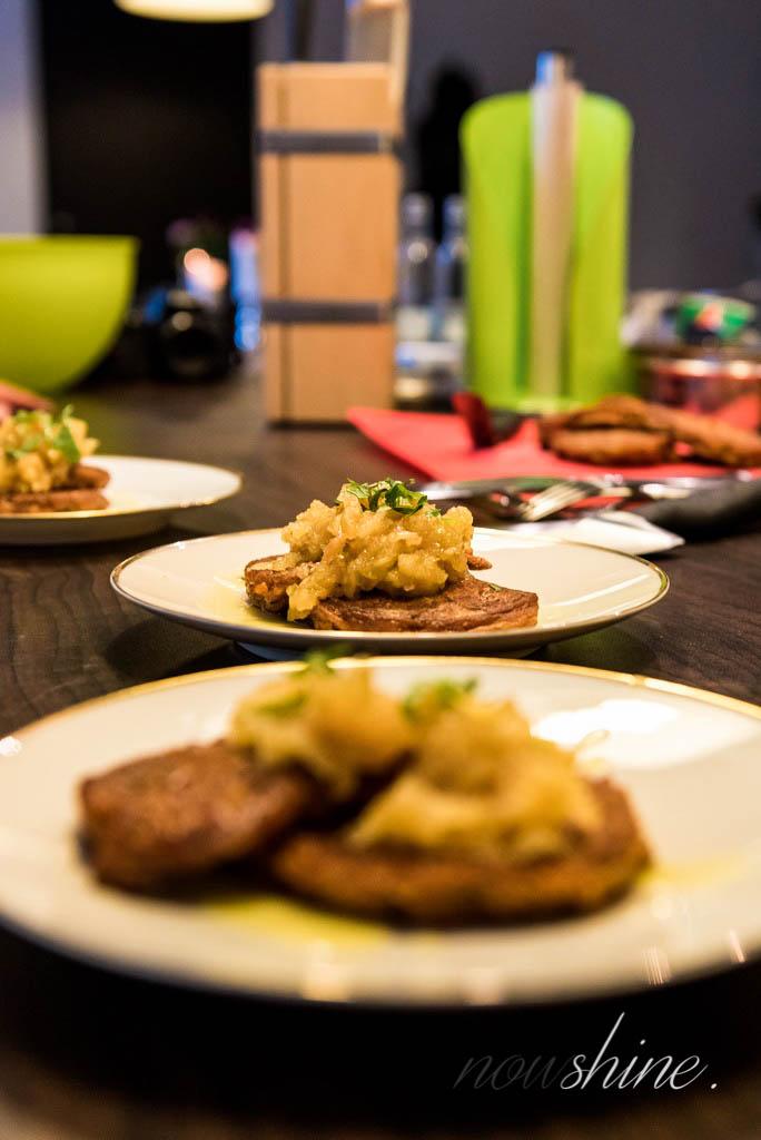Ayurveda - Kochen mit Volker Mehl - Nowshine ue40 Blog -gesunde Ernährung - Mangochutney Gemüsepuffer