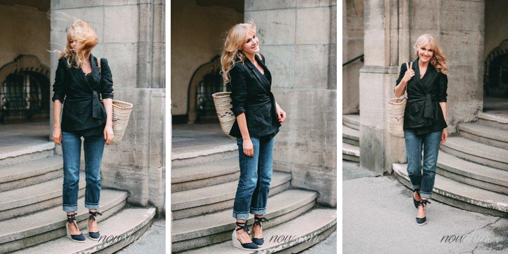 Schwarzer Leinenblazer von Zara - Trend 2018 - Nowshine Fashion ü40