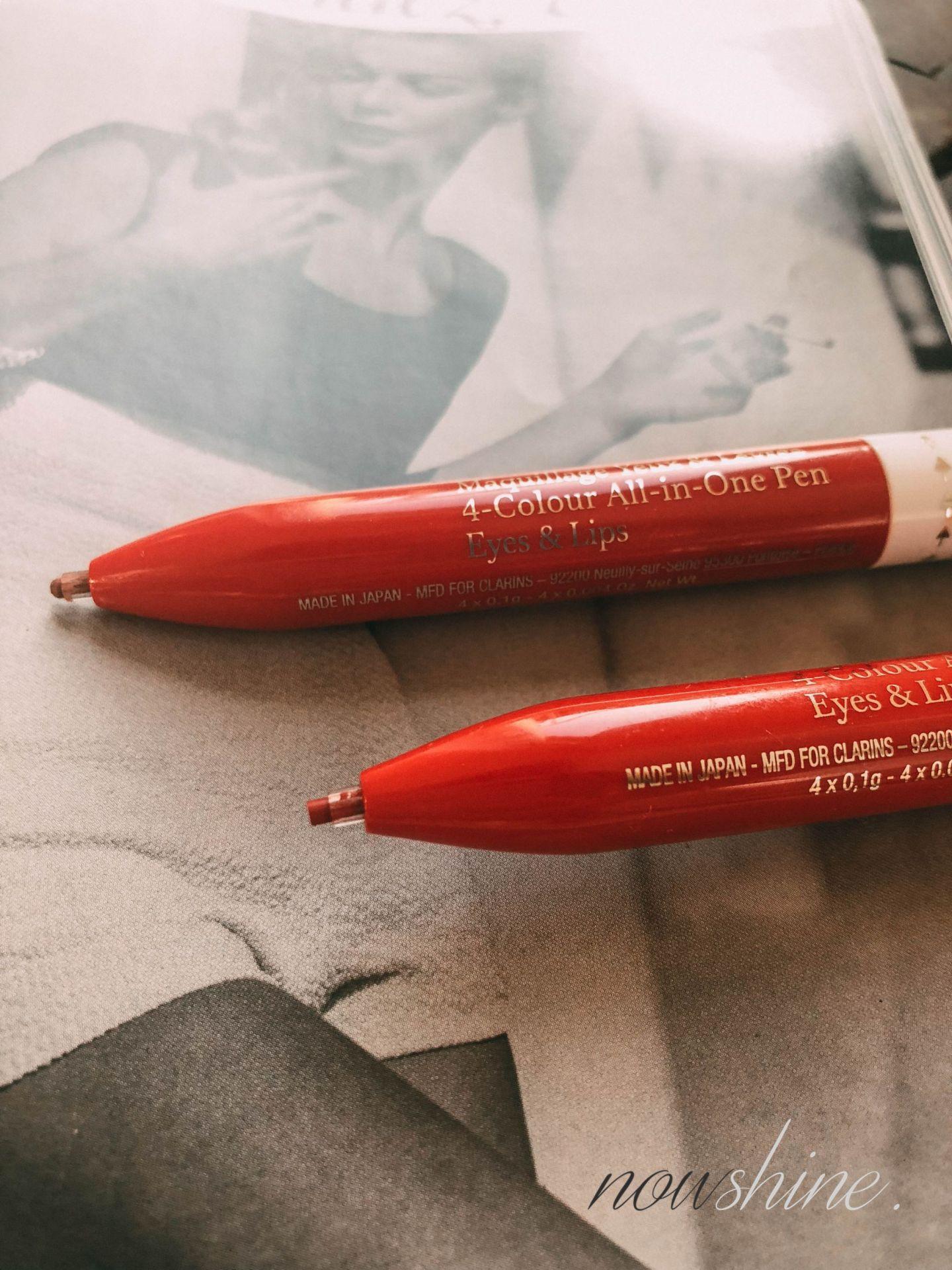 Der Stylo 4 Couleurs von Clarins - Lippenumrandungsstift und Kajal in einem - Nowshine ü 40 Beauty Blog