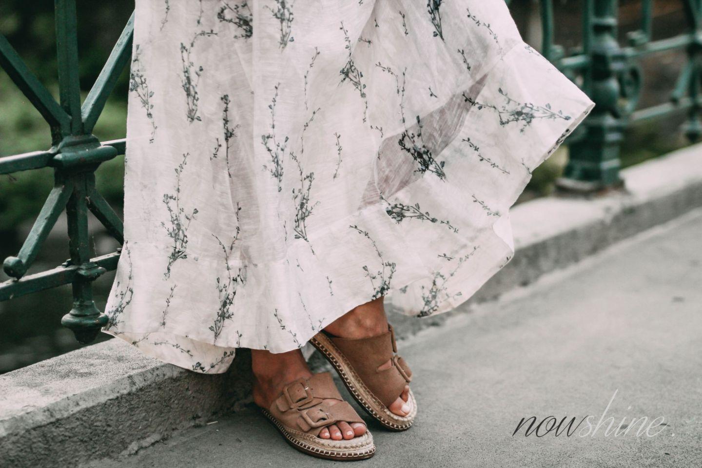 Conscious Exclusive Kleid von H&M - Sandalen aus Jute von Zara - Nowshine Mode ab 40