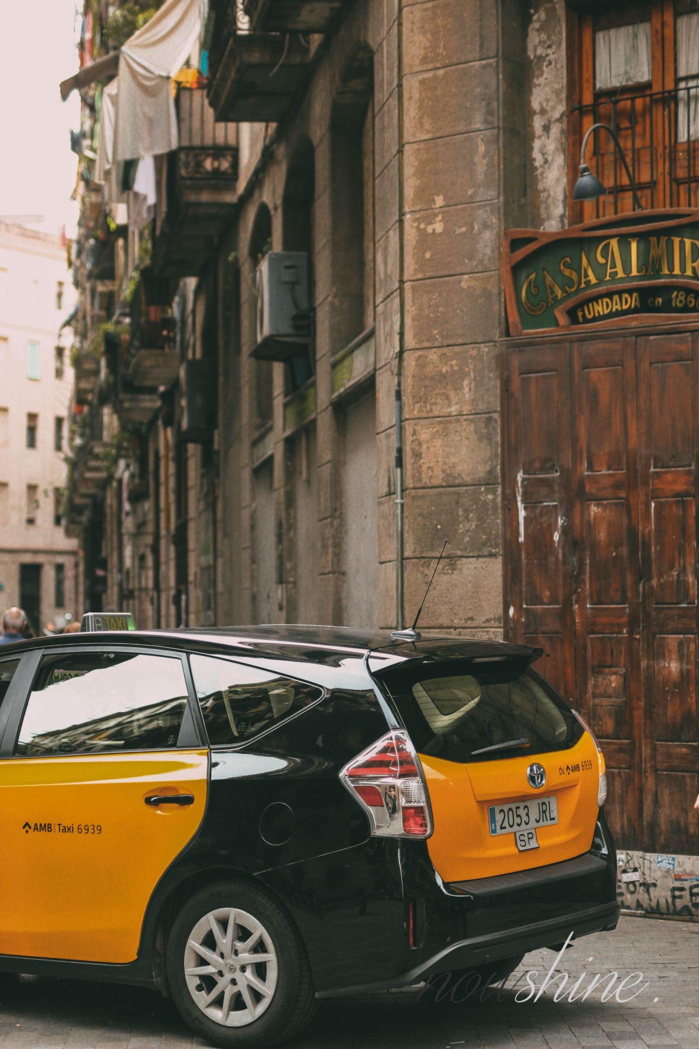 Kurztrip nach Barcelona - Nowshine Reisetipps - Taxi