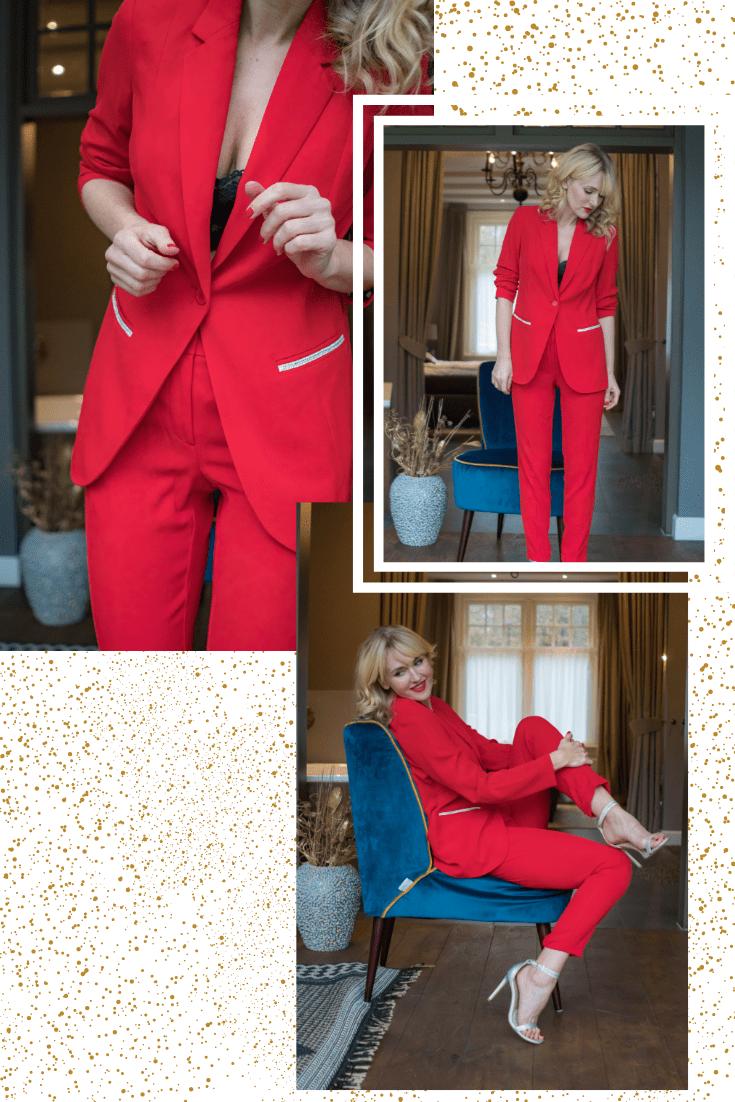 Roter Hosenanzug von WENZ, Outfit für Weihnachten, festliche Outfits, festliche Mode, festliche Kleidung, festliche Kleider, Weihnachtsoutfit, Outfit für Weihnachtsfeier, Outfit für Silvester, Outfit für Firmenweihnachtsfeier, Modeblogger, www.nowshine.de #lookbook #weihnachtsoutfit #festlich #silvesteroutfit #xmaslook #christmaslook #ootd
