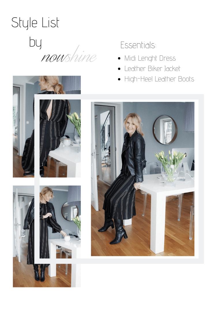 Midikleid im Winter zu Stiefeln-Kleid von H&M-Nowshine Fashion über 40