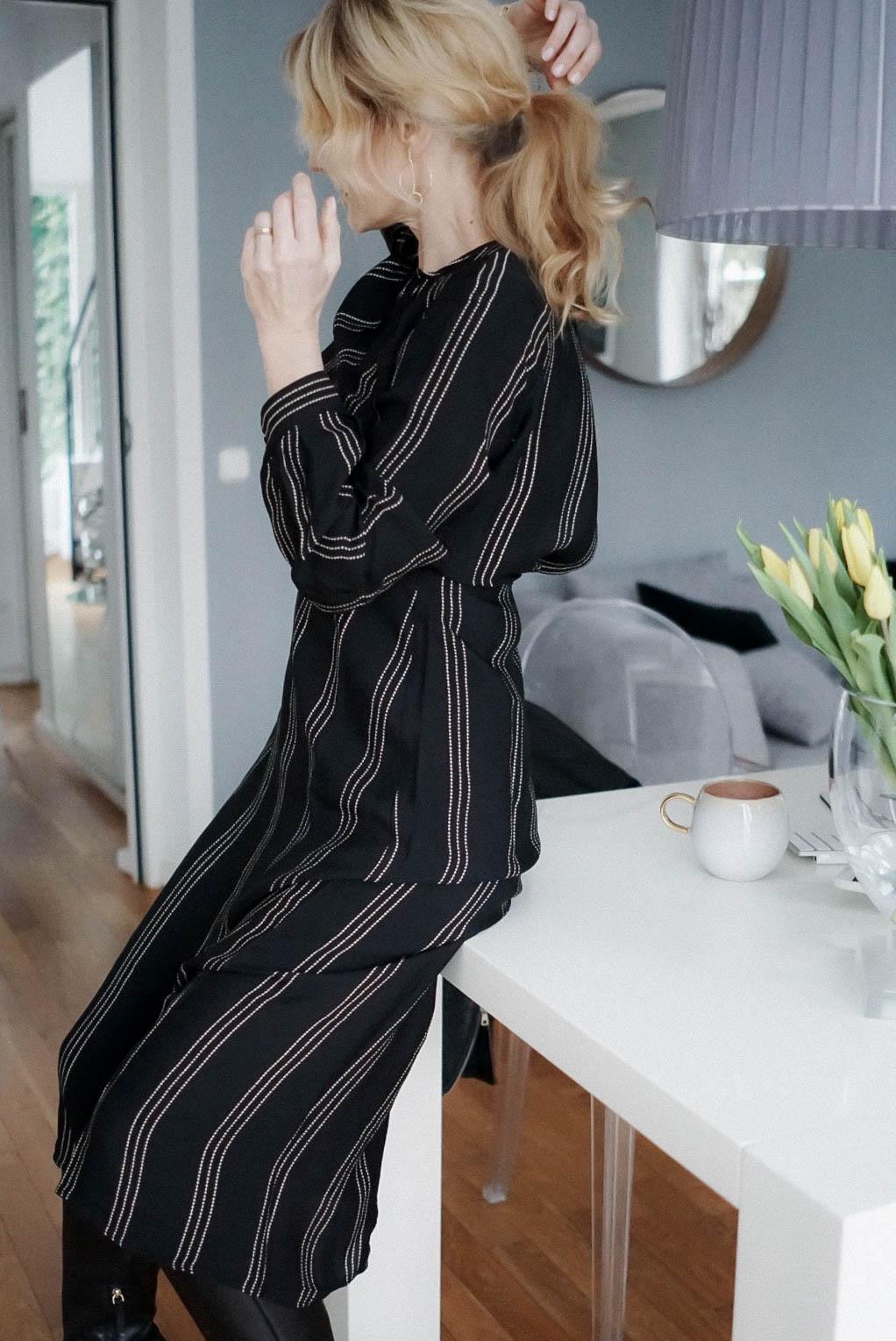 Midikleid im Winter kombinieren-Kleid von H&M-Nowshine Fashion über 40