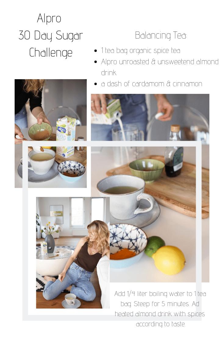 Alpro 30 Tage Challenge-Rezept für Tee mit Zimt, Kardamom und dem Mandeldrink