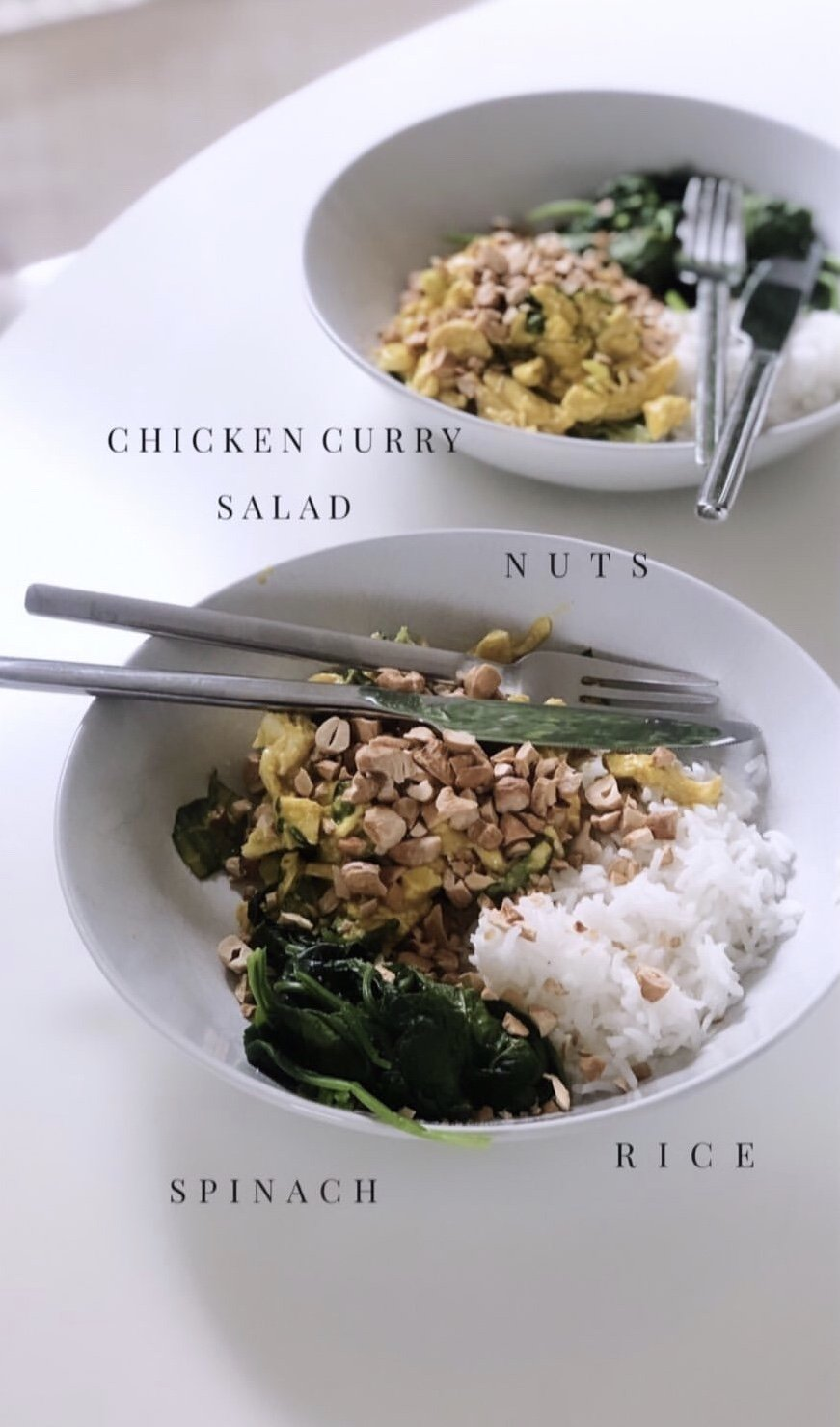 Pamela Reif - You deserve this - Chicken Curry Salad - Ayurveda Rezepte - Nowshine Blog Ernährung über 40