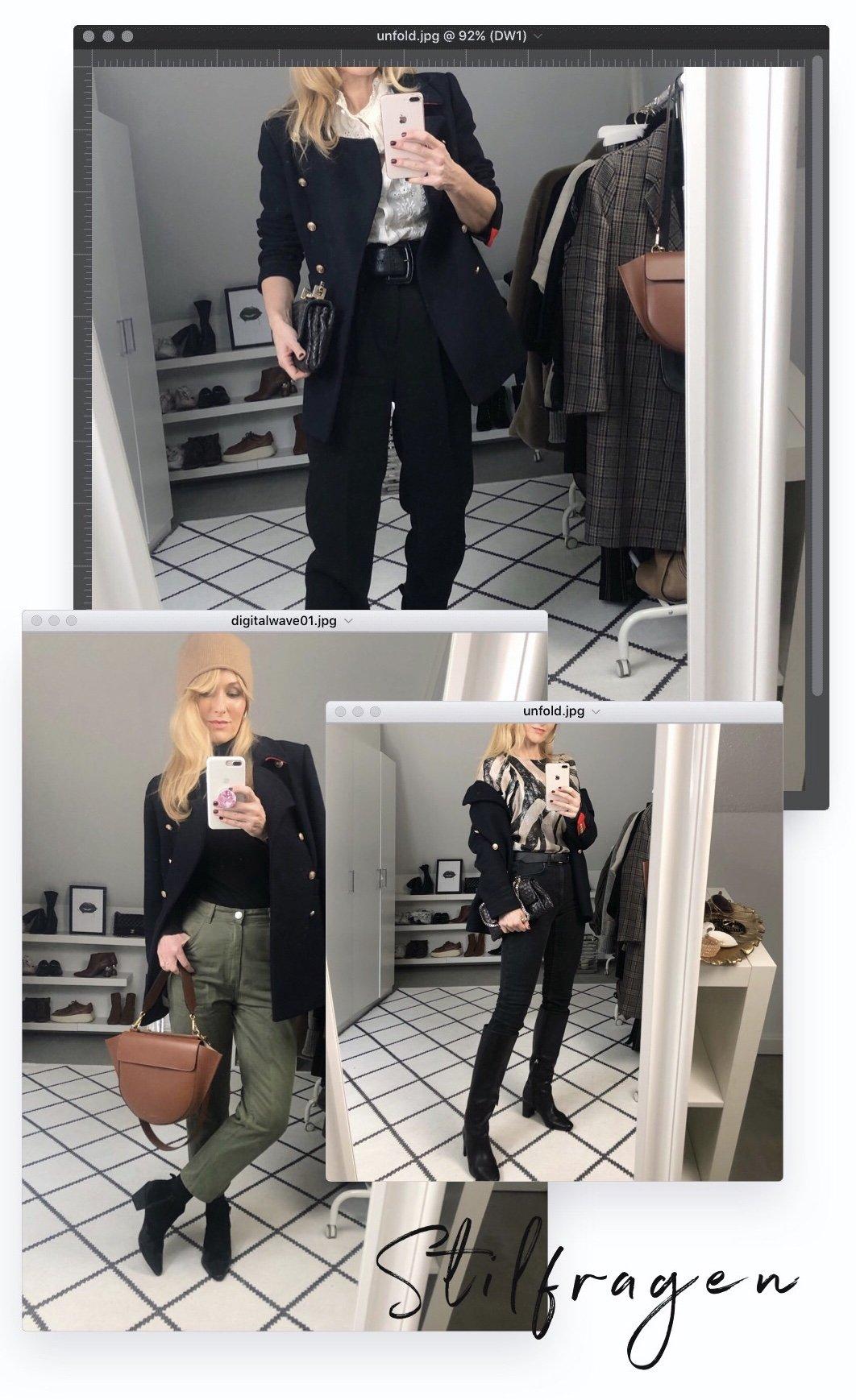 Nowshine ü40 Blog in drei verschiedenen Outfits für den Winter - Stilfragen