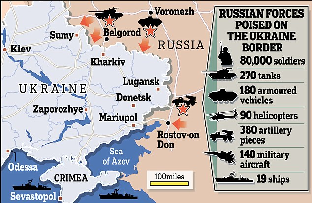 Russian forces on Ukraine border
