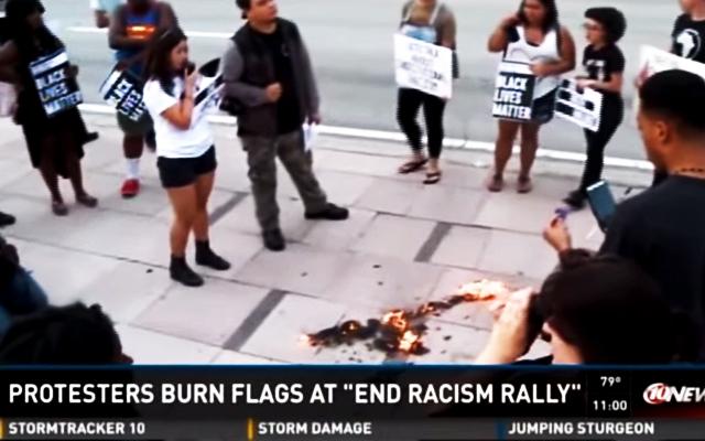 black-lives-matter-protest-burns-american-flag-race-baiters-racism