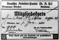 Adolf Hitler's ID card from the Nazi Party - 555