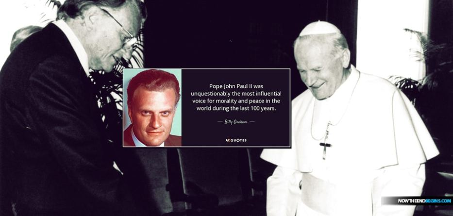 Billy Graham says that what the Vatican and the Roman Catholic Church believes and what he believes are in complete harmony