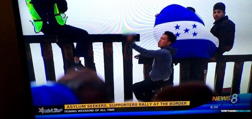 honduran-migrants-burn-american-flag-george-soros-03