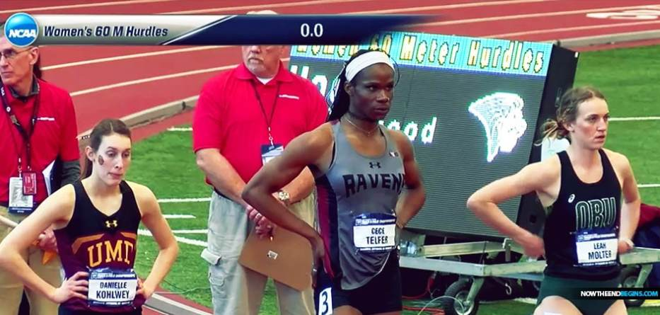 Transgender woman who previously competed in the men's division wins women's national title in the 400-meter hurdles at NCAA championship
