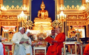 In a meeting with Thailand's Supreme Buddhist Patriarch, Pope Francis encourages One World Religion