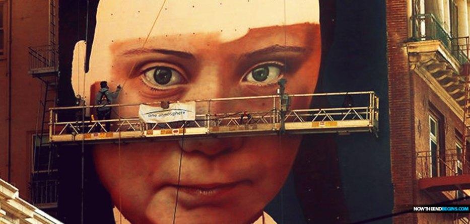 San Francisco Skyline Includes Mural of Climate Teen Greta Thunberg