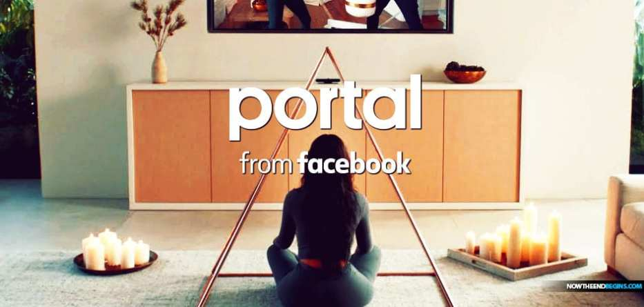 Portal from Facebook features New Age witch Mrs. Kanye West ritualistically lighting candles before entering into a meditation portal for a Kundalini yoga session where the 'serpent spirit' is awakened.