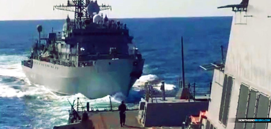 Russian warship 'aggressively approached' US destroyer in Arabian Sea