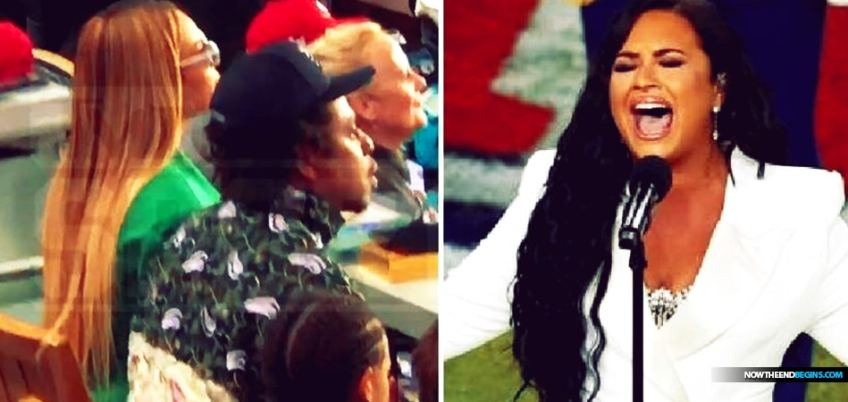 Beyonce and Jay-Z, whom we have showed you repeatedly are New Age Illuminati Luciferians, refused to stand while the National Anthem was being played.