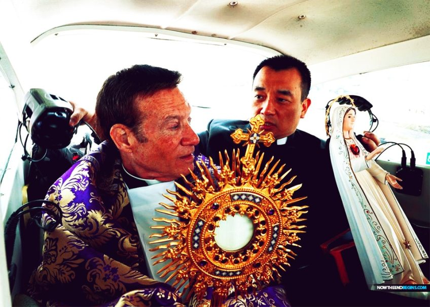 The Blessed Sacrament and a statue of the Virgin Mary flew around the perimeter of the Diocese of Camden on Wednesday afternoon — a two-hour round trip in a Cessna 182. Father Anthony Manuppella, pastor of St. Gianna Beretta Molla Parish in Northfield, prayed from the plane for God's blessing and protection as the new coronavirus spread across New Jersey and the world.