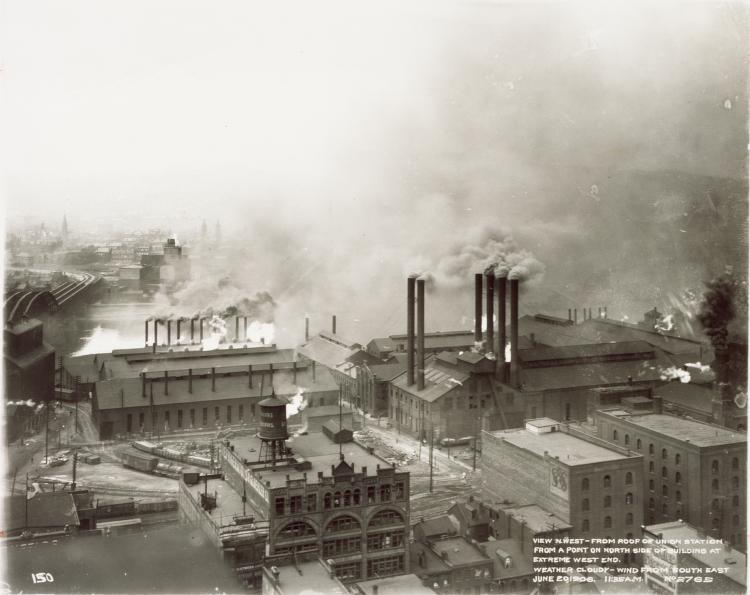 The Strip District before foundries gave way to groceries.