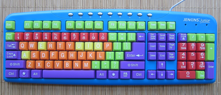 Next generation keyboard, as in the next human generation. This child's model has the same letter arrangement as first created six generations ago.