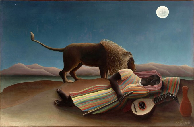 """The Sleeping Gypsy"" was painted in 1897 by Henri Rousseau.  The Carnegie jurors thought Kane's work was similarly naive."