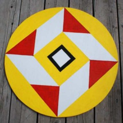 "Hex sign to ward off  ""evil eye."""