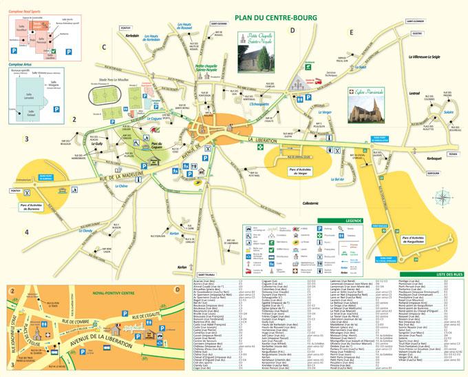 Plan du Centre-Bourg Noyal-Pontivy