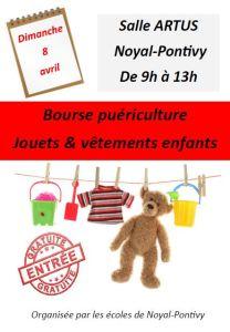 Bourse puériculture - Jouets et vêtements enfants @ Salle Artus | Noyal-Pontivy | Bretagne | France
