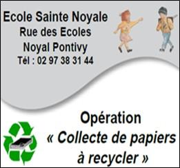 Collecte de papier école Sainte-Noyale