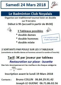 Tournoi Loisir Badminton Club Noyalais @ Noyal-Pontivy | Bretagne | France