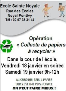 Opération Collecte de Papiers à Recycler