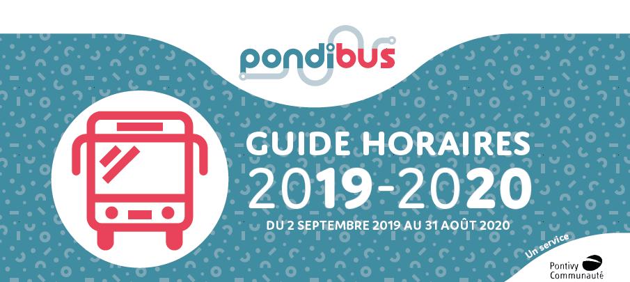 Pondibus Horaires 2019-2020