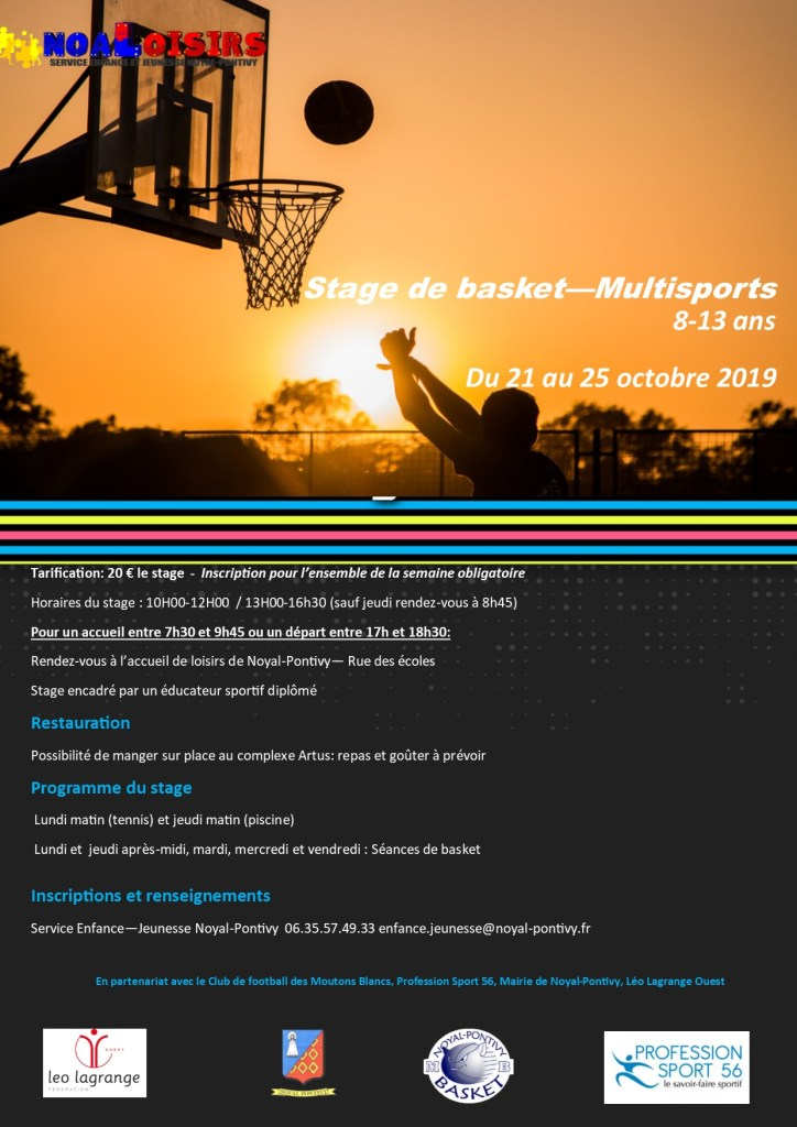 Stage de basket Octobre 2019