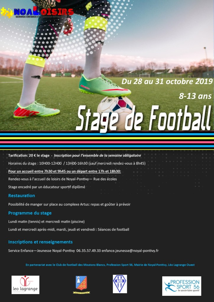 Stage de Football octobre 2019