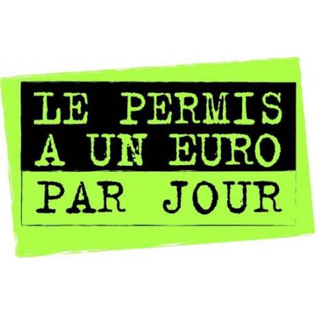Permis 1 €/jour