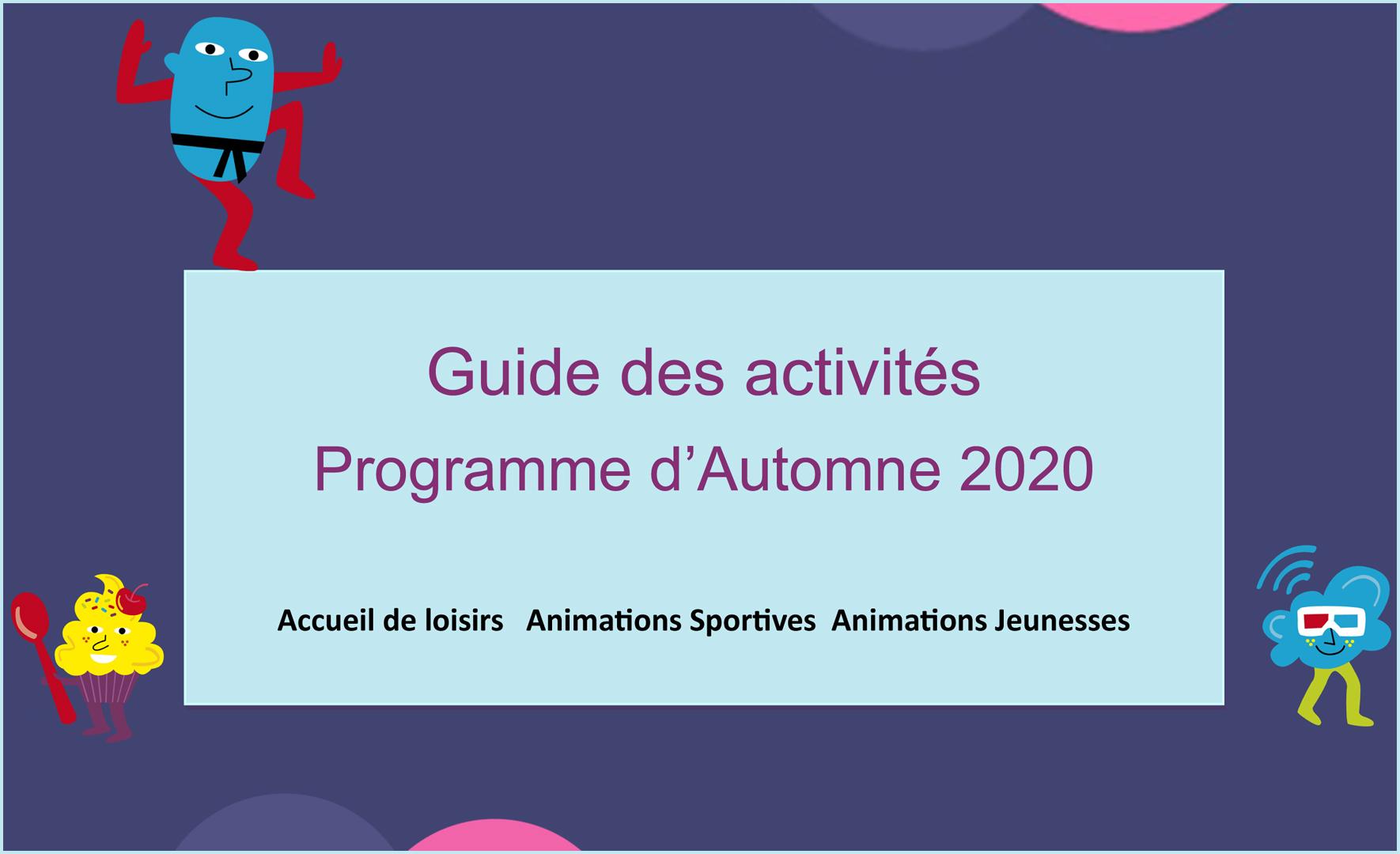 Programme Automne 2020