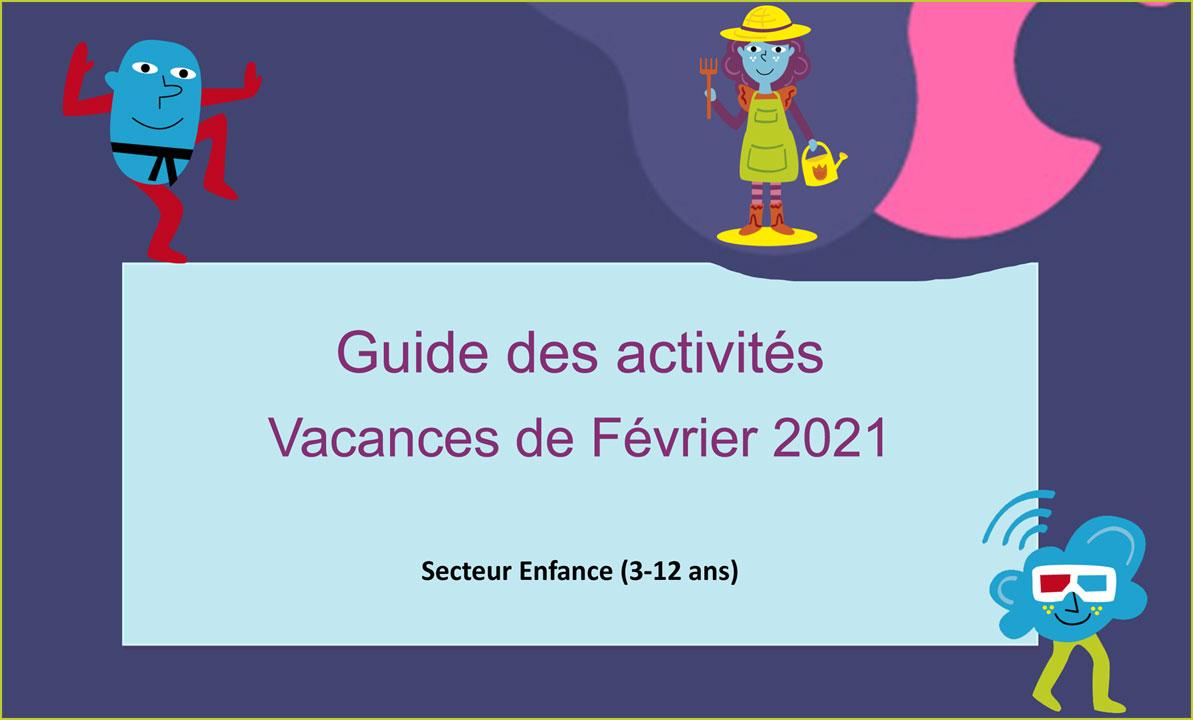 Programme Vacances de février 2021
