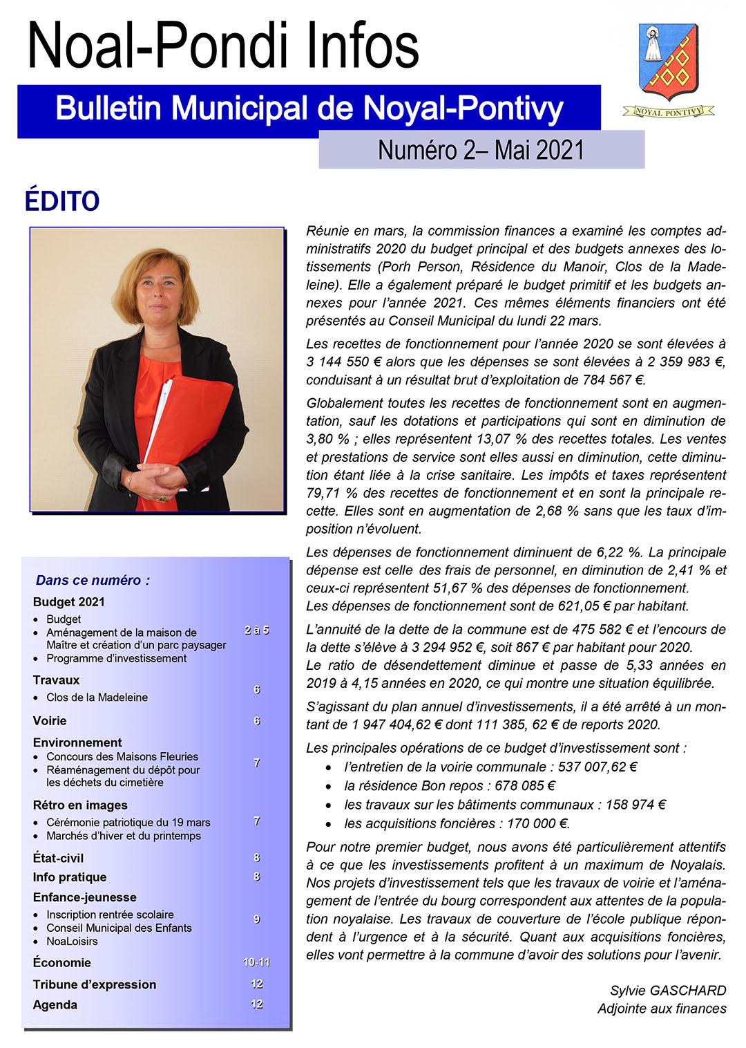 Bulletin Municipal de la Mairie de Noyal Pontivy - Mai 2021