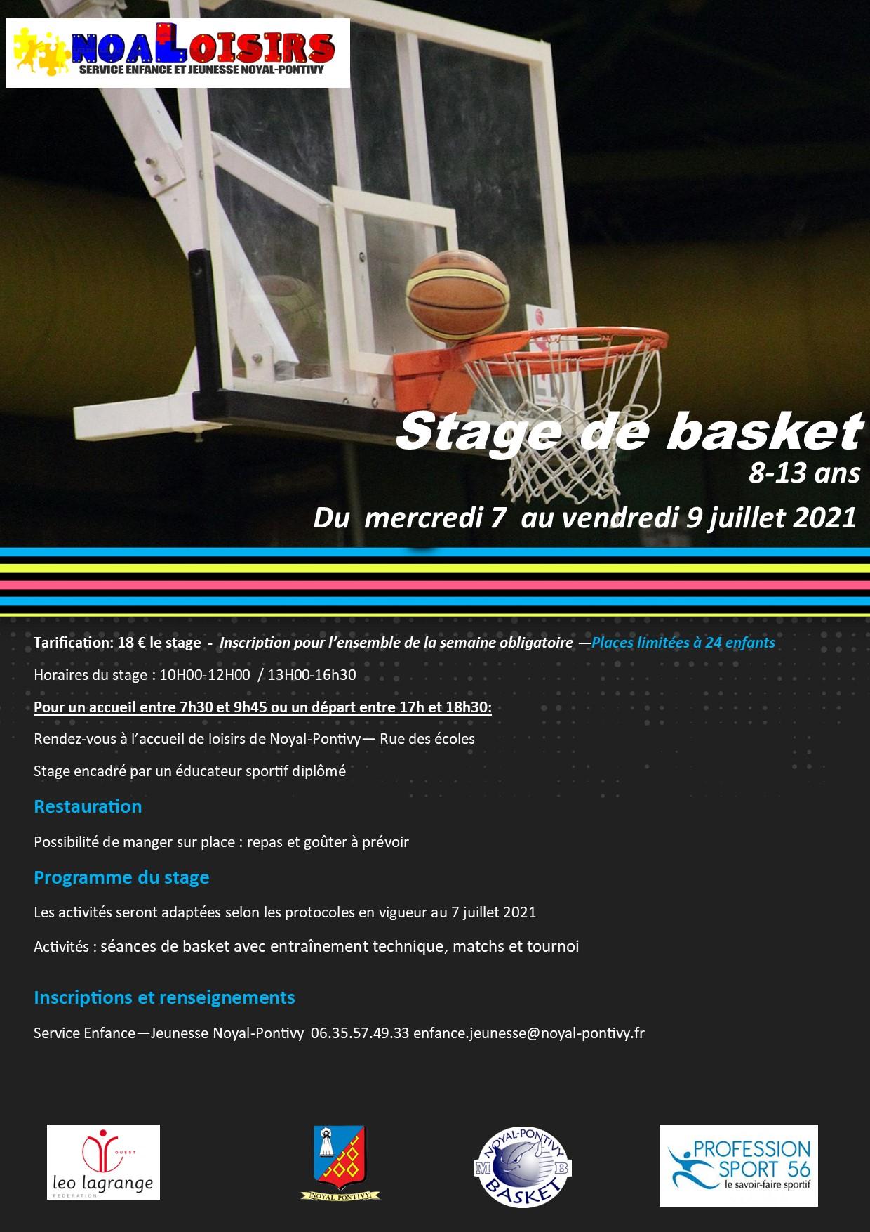 Stage sportif Basket