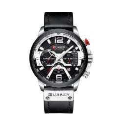 שעון לגבר CURREN שחור כסף