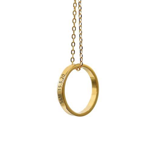 שרשרת טבעת עם חריטה