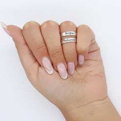 טבעת פתוחה כסף 925 עם חריטה